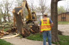 Work begins on Adams Street