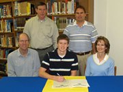 Frick signs football letter with Tabor