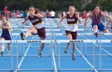 Trojan hurdlers sweep races at Halstead track meet
