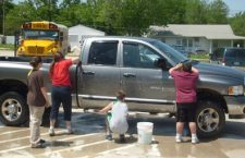 Students scrub vehicles to raise money for Greensburg