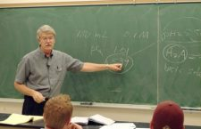 The right chemistry-TC Prof. Allen Hiebert engaged his students? imagination