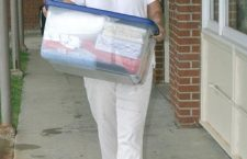At your service…Tabor's 'First Lady' lends a hand to new students
