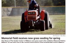 Memorial Field receives new grass seeding for spring