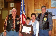 Marion boy made honorary member of Legion Post 22