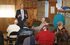 Moran stops in Peabody to visit with Marion County voters