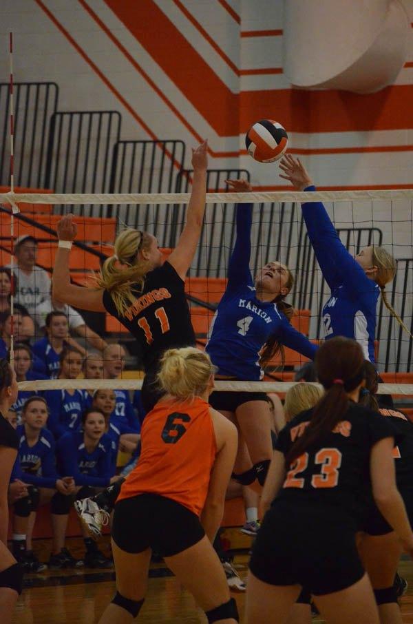 MHS volleyball splits 2 at Smoky Valley