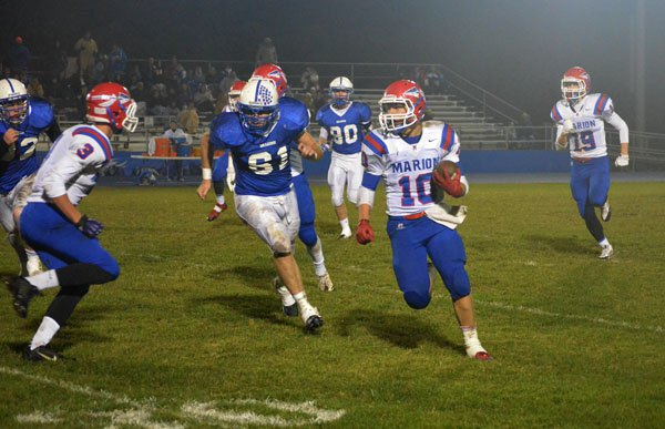 Marion blanks Halstead, 27-0, in first district win