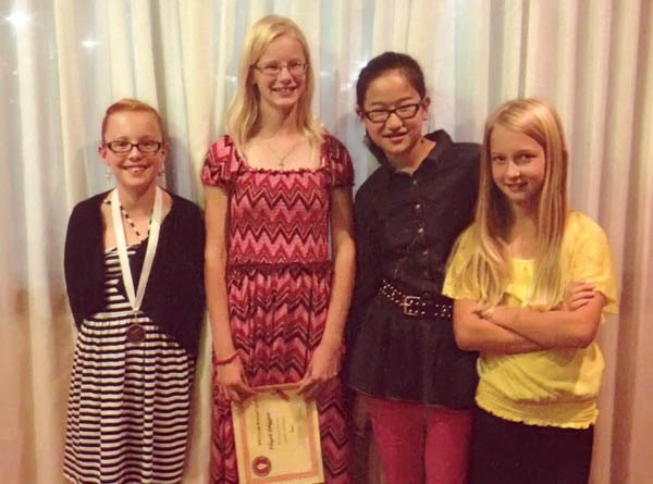 From left: Emersyn Funk, fourth-grade daughter of Jeff and Carisa Funk.