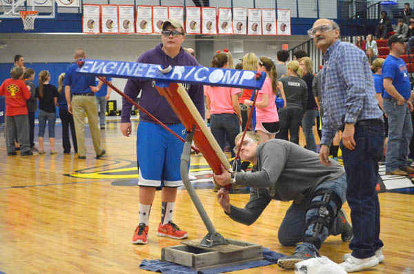 MHS engineering class tests T-shirt shooter