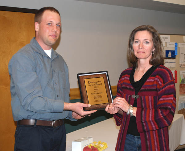 Kroupa recognized for service