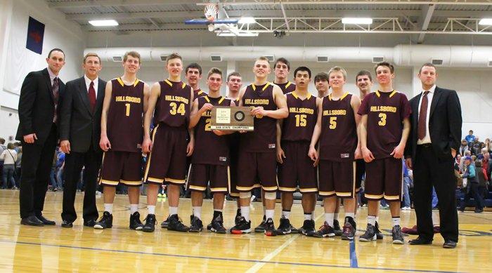 Hillsboro boys, 2014 Class 2A sub-state champions.