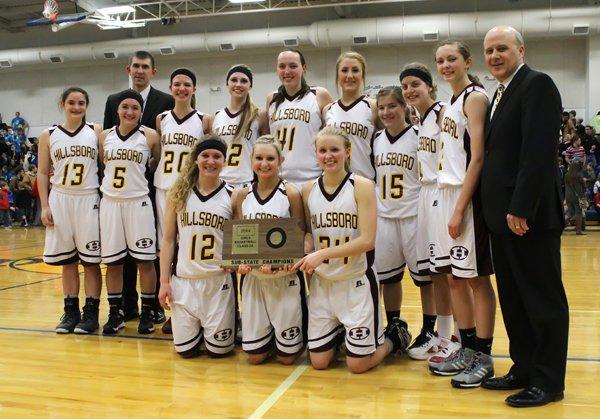 Hillsboro girls, 2014 Class 2A sub-state champions.