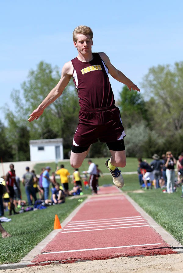Avery Franz placed second in the triple jump (41-93?4), third in the long jump (20-4) and fourth in the 400 (54.35) at the James Thomas Invitational at Joel H. Wiens Stadium Friday. Hillsboro claimed a total of five gold medals.