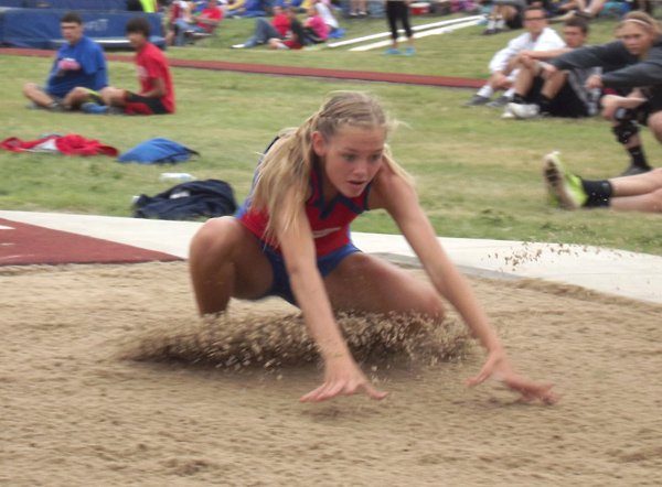 Marissa Jacobson led the Marion girls at the Phillipsburg Class 3A regional meet Friday with a gold medal in the triple jump (36 feet, 13?4 inches). She placed second in the long jump (16-51?2) and the 400 (1 minute, 0.71 seconds). A total of 12 Warriors will represent Marion at the state meet this weekend.