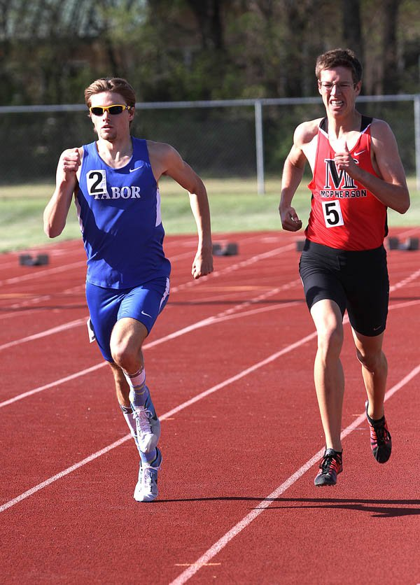 Tabor track performs at KCAC meet