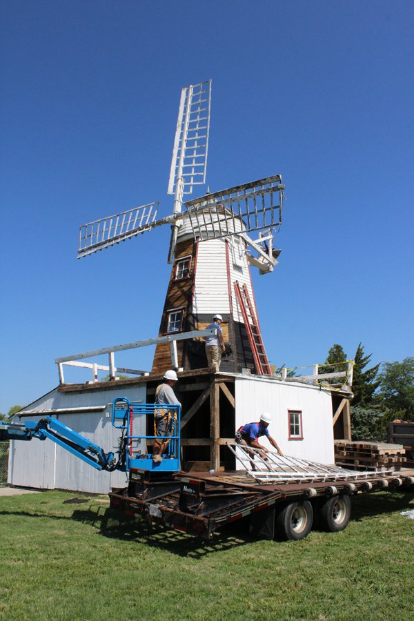 Repairs begin on Friesen Mill in Hillsboro
