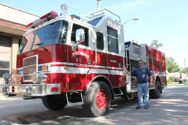 Pumper truck finds its way to Hillsboro