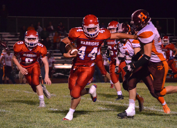 Marion's Adam Janzen received all-league recognition from Heart of America league coaches on offense, defense and special teams. This season, he led Marion's ground game with 179 carries for 1,293 yards and 22 touchdowns. Free Press File Photo