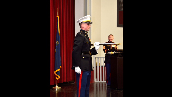 Commissioned for officer training