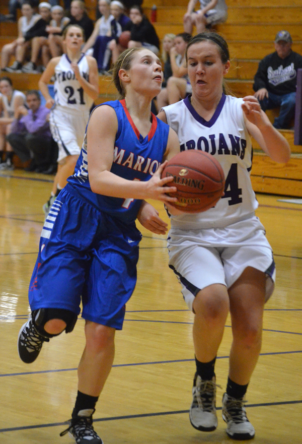 Marion girls fall to Trojans, 48-25