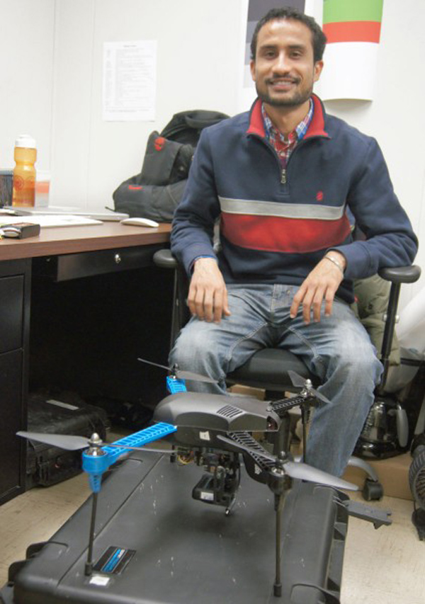 Drones aiding K-State wheat research