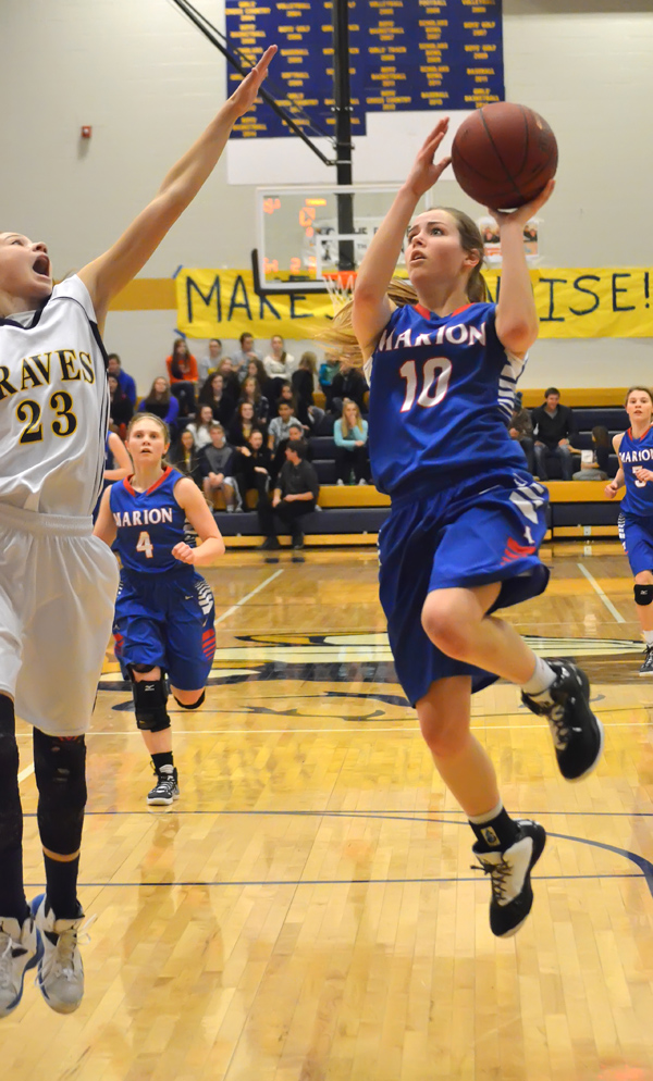 Marion girls fall to Braves by two