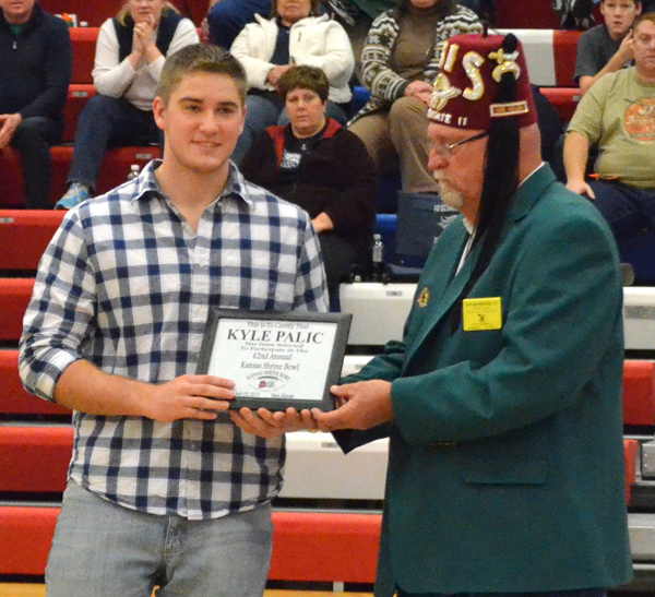 Palic selected for Shrine Bowl