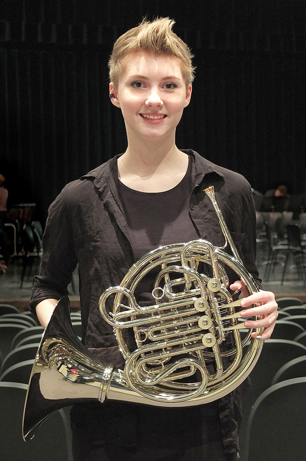 Gray plays first-chair horn in state band