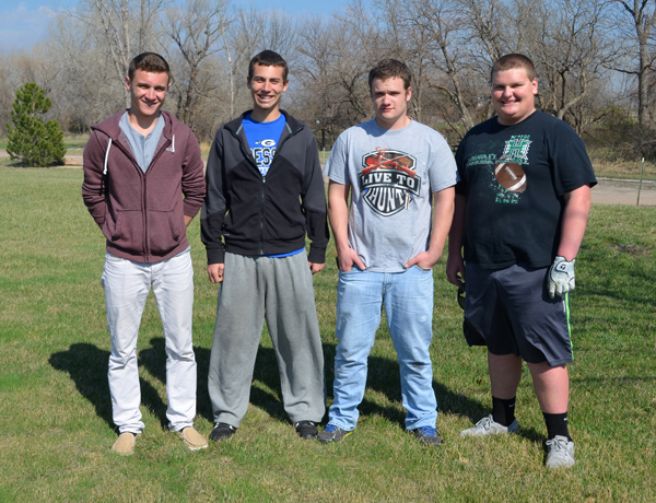 These seniors and returning letter-winners will anchor the Goessel golf team this season: (from left) Lawton Makovec, Lucas Hiebert, Kellen Froese, Luke Unruh. Janae Rempel / Free Press
