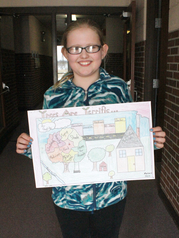 HES 4th-grader wins state Arbor Day poster contest