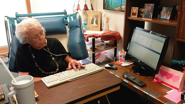 Email a daily godsend for local nonagenarian