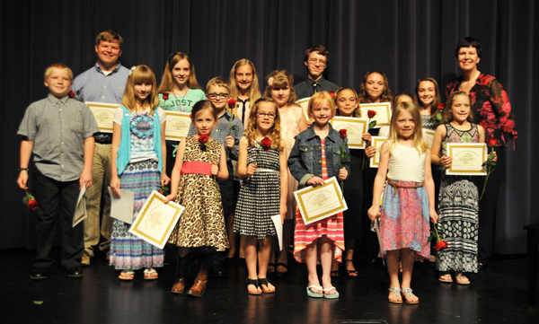Music students perform piano and voice recital