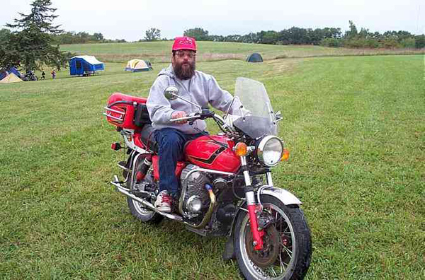 David Kasitz, ready to roll during one of his many motorcycle adventures. He died of pneumonia Jan. 15, 2014. Courtesy photo