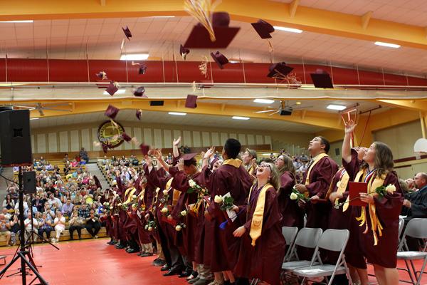 Graduation traditions continue