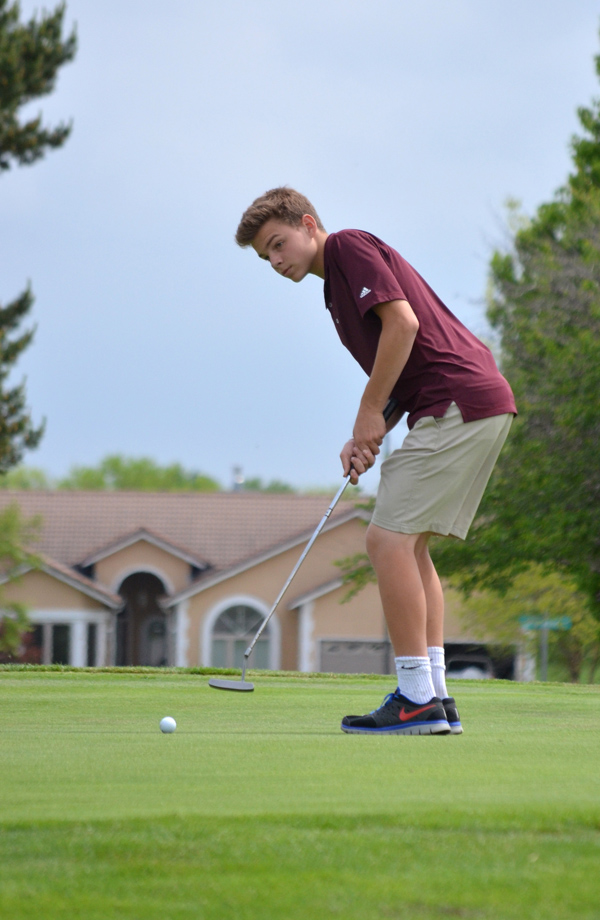 Elias Werth led the Trojans at the 36-hole Marion County Invitational Friday, carding a 101 at Marion and a 93 at Hillsboro for an overall score of 194. He placed 29th overall. Phyllis Richert Photo