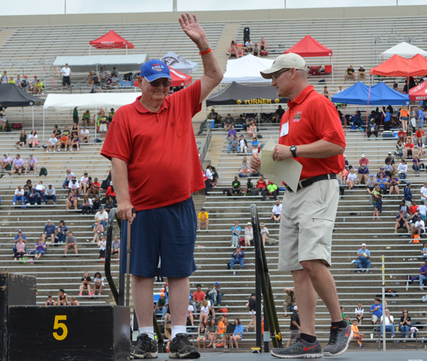 Veteran Marion coach honored at state track meet