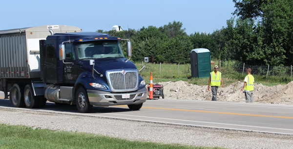 Hett Construction heads up KDOT project to add turning lanes along U.S. 56 at Adams