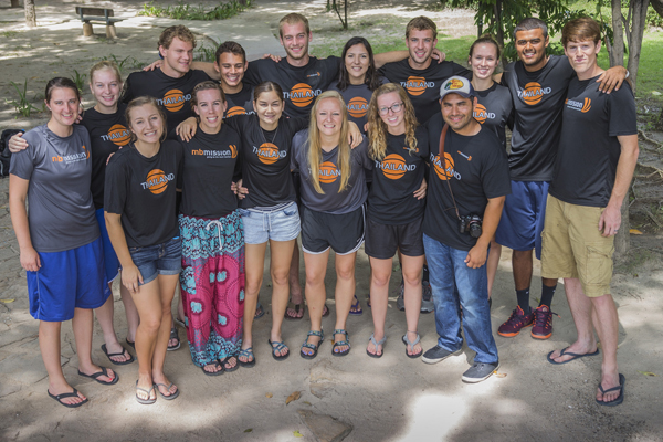 Teams travel to Thailand to serve