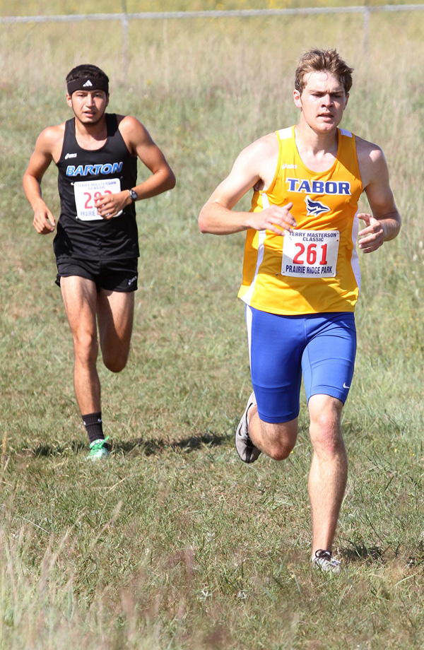 Phyllis Richert Photo<p>Bret Mueller paced the Tabor men at the Terry Masterson Classic Invitational in Hutchinson Saturday by finishing fifth in the 8-k race with a time of 28:33.9.