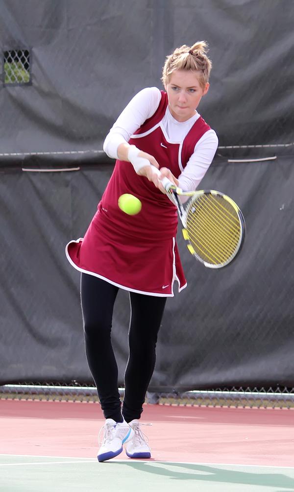 Trojan tennis 10th at CKL tournament