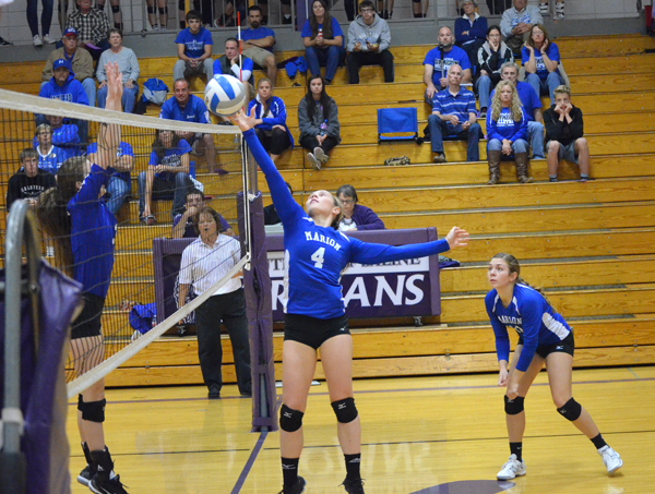 Marion volleyball falls to Halstead in sub-state quarterfinals