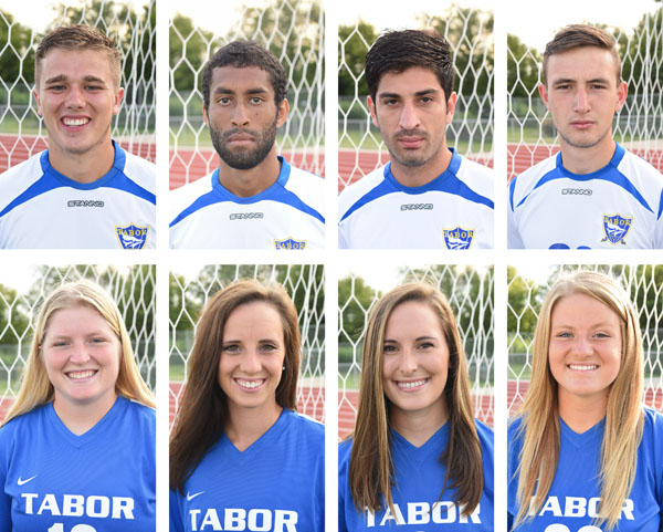 Eight Tabor soccer players recognized