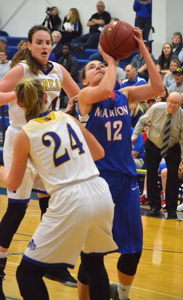 Marion ends regular season with losses at Berean Academy