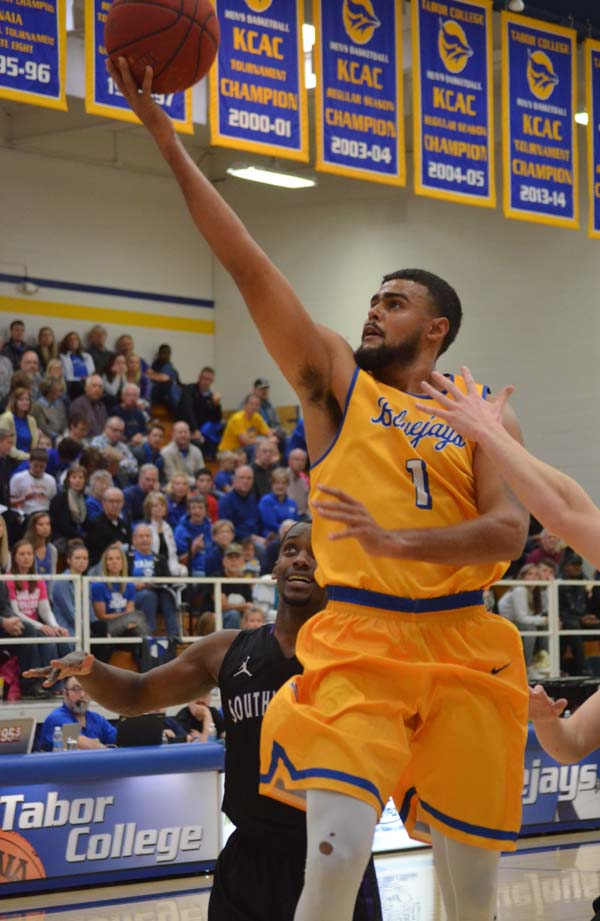 Tabor men lose to Southwestern in KCAC semifinals, 93-88