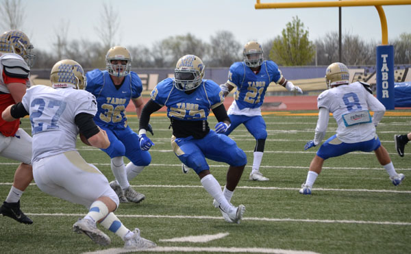 Tabor College football team plays spring game last weekend