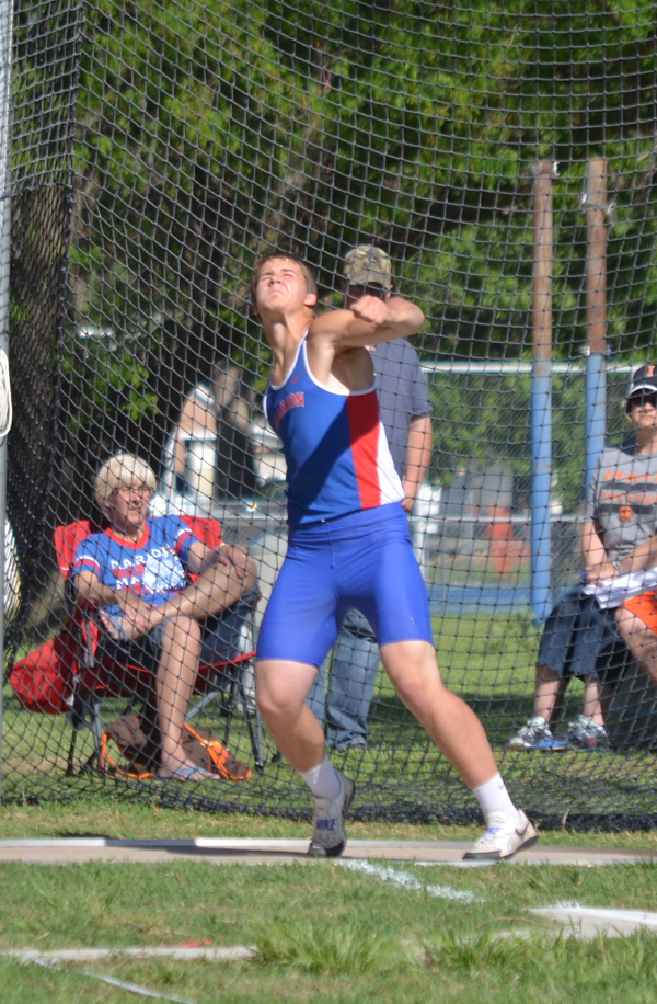 Tyler Palic shows the form that led to a league discus championship with a throw of 178-6, more than 40 feet ahead of second place. Palic finished second in the javelin (149-11) and fourth in the shot put (46-2).