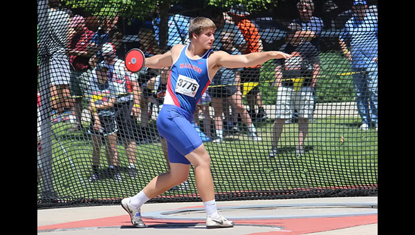 Marion's Tyler Palic dominates Class 3A state discus competition