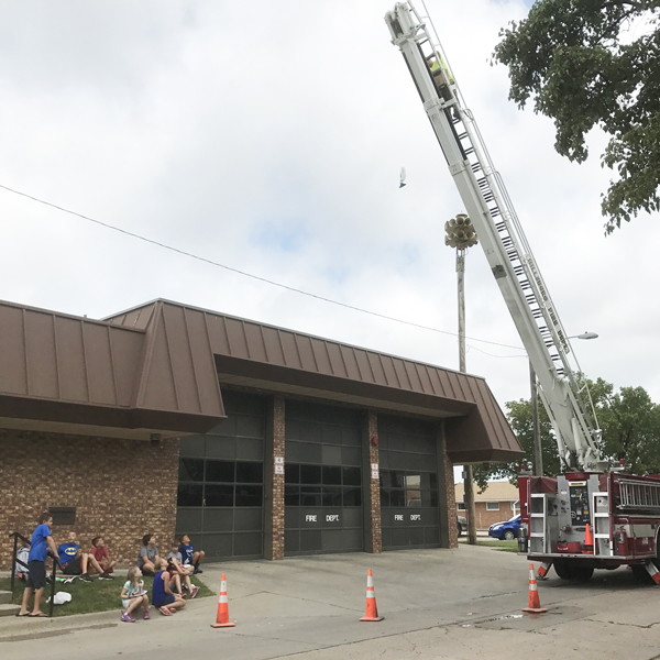 Firefighters lend a hand with STEM camp for kids