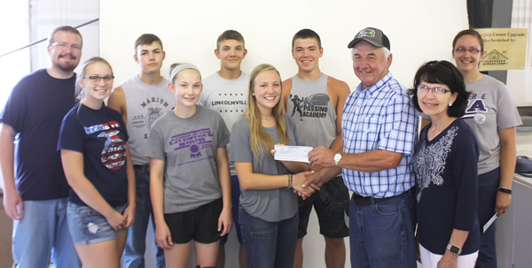 Couple presents $2,500 donation for Centre FFA through Monsanto