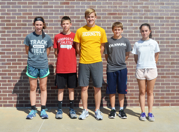 Five to compete in cross-country